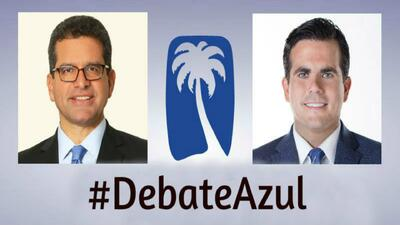 Llegó la hora del #DebateAzul entre Pierluisi y Rosselló