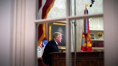 La estrategia de Trump para fabricar una 'crisis fronteriza' en horario estelar: analizamos el mensaje presidencial