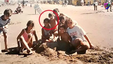 Vaya historia.: Después de 21 años aparece una inédita foto de Leo Messi y Antonela Roccuzzo
