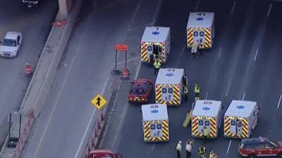 Se reportaron heridos tras accidente en la autopista Kennedy