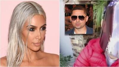 Kim Kardashian aparece con tan solo un panty de diamantes y Larry Hernández luce una máscara tras su accidente