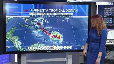 Tormenta tropical Dorian avanza con vientos de hasta 60 mph