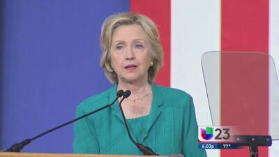 Clinton dio un discruso muy dirigido a los cubanos