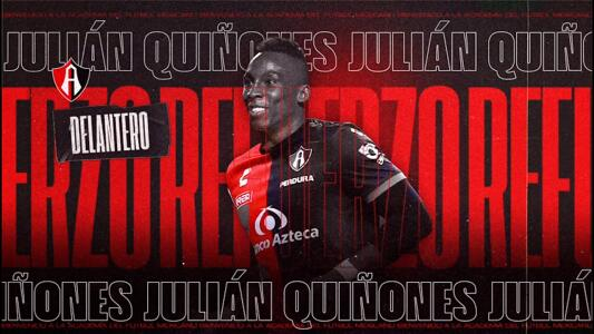 Atlas oficializa fichaje de Julián Quiñones