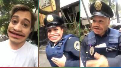 (Video) Cotorrea con los policías que lo multaron usando filtros de Snapchat