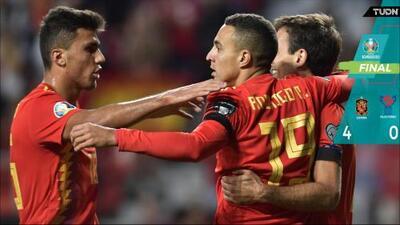 España dio paso firme rumbo a la Euro 2020