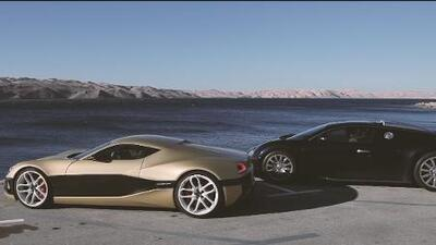 Apasionante duelo en las carreteras entre un Rimac Concept One y un Bugatti Veyron