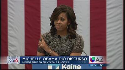 Michelle Obama da un memorable discurso en Arizona