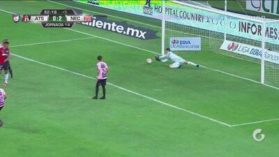 ¡Hay portero! Atlas tenía el 2-1 y González salva la meta de Necaxa