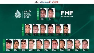México anunció su lista de seleccionado Sub-20 para gira europea previa al mundial