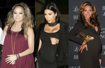 ¿Te acuerdas de sus pancitas? Así lucían JLo, Kim y Beyoncé embarazadas