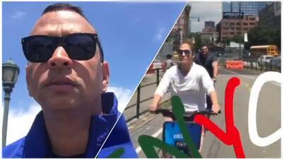 Jennifer López y Alex Rodríguez corren bicicleta por Nueva York como cualquier hijo de vecino