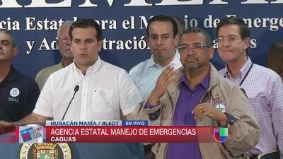 """María va a ser un huracán """"feroz"""", dijo Rosselló"""