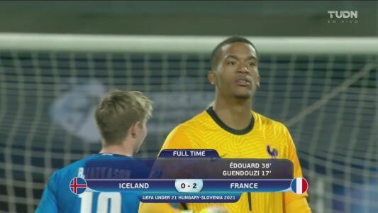 Francia cumple al derrotar 0-2 a Islandia y está en Cuartos del Euro Sub-21