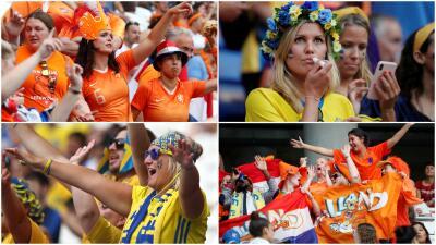 Lyon vuelve a estar de fiesta: gran ambiente para la Semifinal entre Holanda y Suecia
