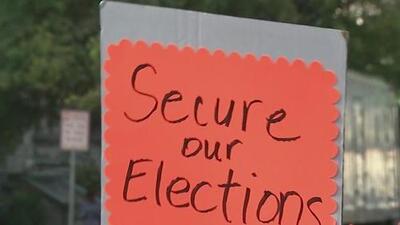Manifestantes piden la protección de votos en preparación para la elección presidencial de 2020