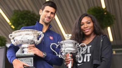 Suerte distinta para Djokovic y Serena Williams en sorteo del Abierto de Australia