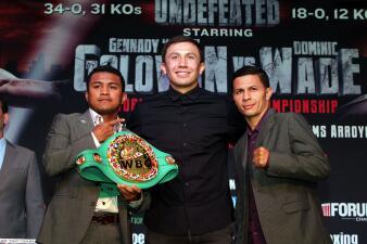 Gennady Golovkin y Román 'Chocolatito' González presentaron pelea en LA