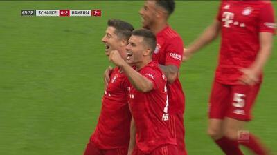 Exquisito gol de Lewandowski y Bayern Munich ya lo gana 2-0