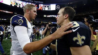 Jared Goff es opacado por Drew Brees y los Saints apalean a los Rams