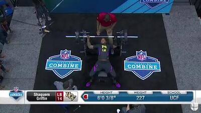 ¡Increíble! Con prótesis en la mano, Shaquem Griffin hizo 20 repeticiones de 225 libras en el NFL Combine