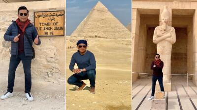 Las mejores fotos del viaje a Egipto de Raúl Brindis 📸