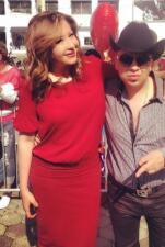 Tito Torbellino con Jessica Maldonado.