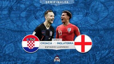 ¡Por el boleto a la final! Croatas e ingleses se enfrentarán en semifinal inédita