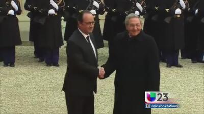 Niegan entrada a Univision a acto donde estuvo Raúl Castro en Francia
