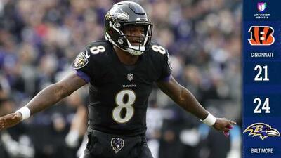 Lamar Jackson debutó como titular y guió apretado triunfo de Ravens