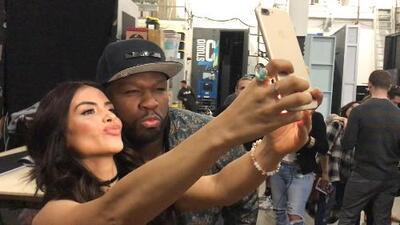 Detrás de cámaras: 50 Cent quiso besar a Jessica Cediel