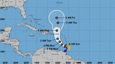 Se forma la tormenta tropical Karen en el Atlántico