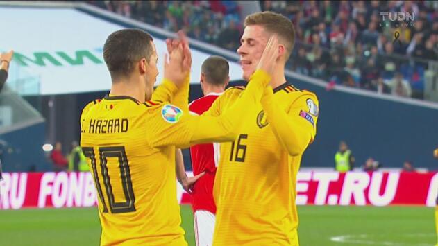 ¡Era el turno del hermano! Eden Hazard aumenta la ventaja de Bélgica ante Rusia