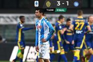Lozano anota el gol más rápido de su carrera en la derrota del Napoli