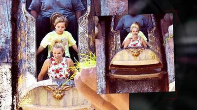 Britney Spears lleva a sus hijos a Disneyland
