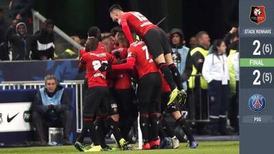 El Rennes destrona al PSG como campeón de Copa en los penaltis