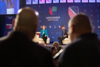 Educación, inmigración y cambio climático: candidatos demócratas le hablaron a los hispanos en el foro Univision-LULAC (fotos)