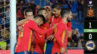 ¡Con poca furia! España vence en amistoso a Bosnia por la mínima diferencia