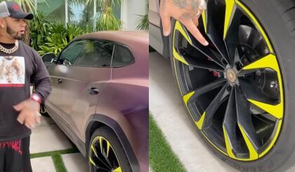 Se trata de la  <b>Lamborghini Urus</b>, una SUV de lujo y alto rendimiento, a la que le aplicó una <b> pintura especial tornasol</b> sobre su carrocería. Por si fuera poco, también reemplazó el juego de rines por unos más llamativos de color amarillo fluorescente.