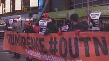 Protestas pacíficas en Nueva York por el violento asalto al Capitolio por parte de seguidores de Trump