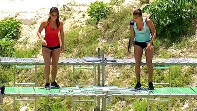 Daniela Fainus vs. 'La Jarocha': las concursantes superaron sus miedos en esta contienda sobre el agua