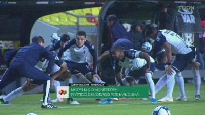 Paró la tormenta y en breve reiniciará el Morelia vs. Monterrey