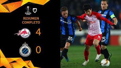 Salzburg 4-0 Club Brujas - GOLES Y RESUMEN – VUELTA DIECISEISAVOS DE FINAL – UEFA Europa League