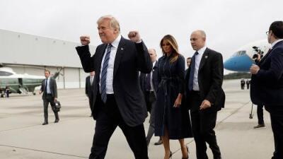 Trump va a la ceremonia del 9/11 y las críticas por esta foto que se volvió viral opacan el evento