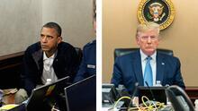 Una foto natural y otra posada: dos imágenes que resaltan las diferencias entre los gobiernos de Obama y Trump