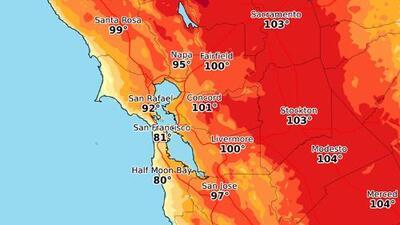 Calor sin tregua: el termómetro volverá a rebasar 100° F en algunas ciudades del Área de la Bahía