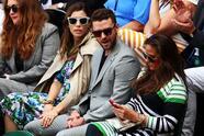 Justin Timberlake y Jessica Biel han sido unos de los que más miradas han atraído en su paso por Wimbledon.