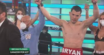 Resumen | ¡A tres rounds! Bryan Flores venció a 'Estruendo' Sánchez