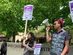 Maestros de Union City y Hayward comienzan huelga en busca de mejores salarios (fotos)