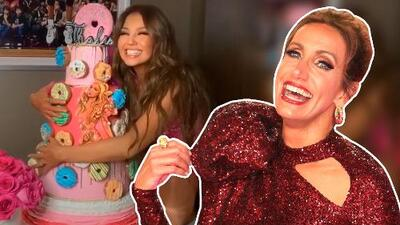El enorme pastel con el que Lili Estefan sorprendió a Thalía